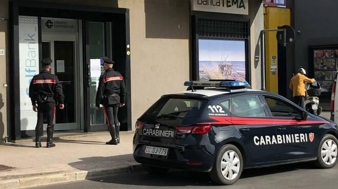 Carabinieri di Grosseto bancomat rubato