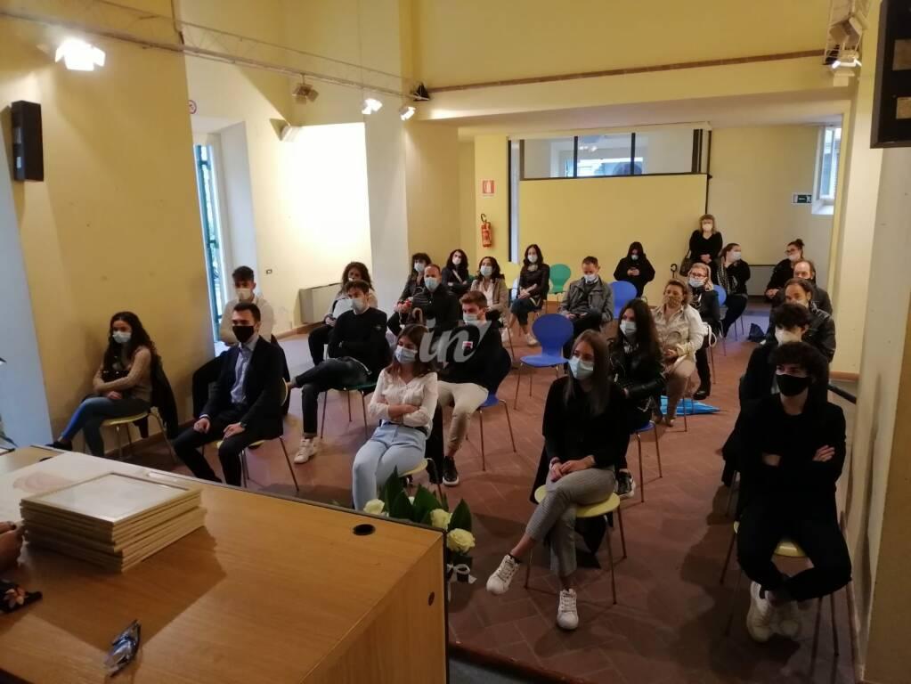 Cerimonia di premiazione dei centisti della maturità 2020 a Santa Croce sull'Arno