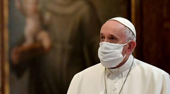 Don andrea pio cristini con papa francesco