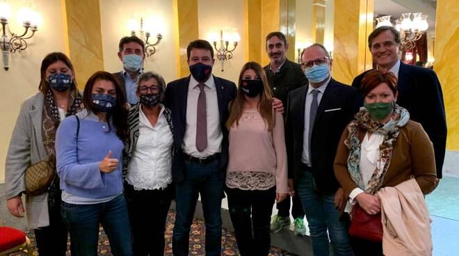 Elisa Montemagni incontro Matteo Salvini Lega eletti consiglio regionale