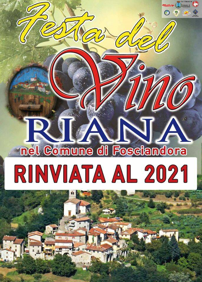 Festa del vino di Riana annullata