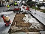 Lavori in Passeggiata per isola ecologica interrata