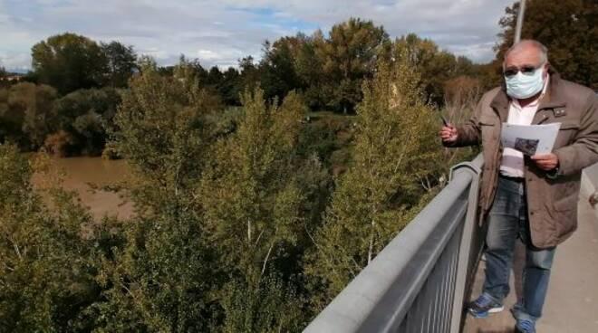 Marco Cordone sul ponte di san pierino fucecchio