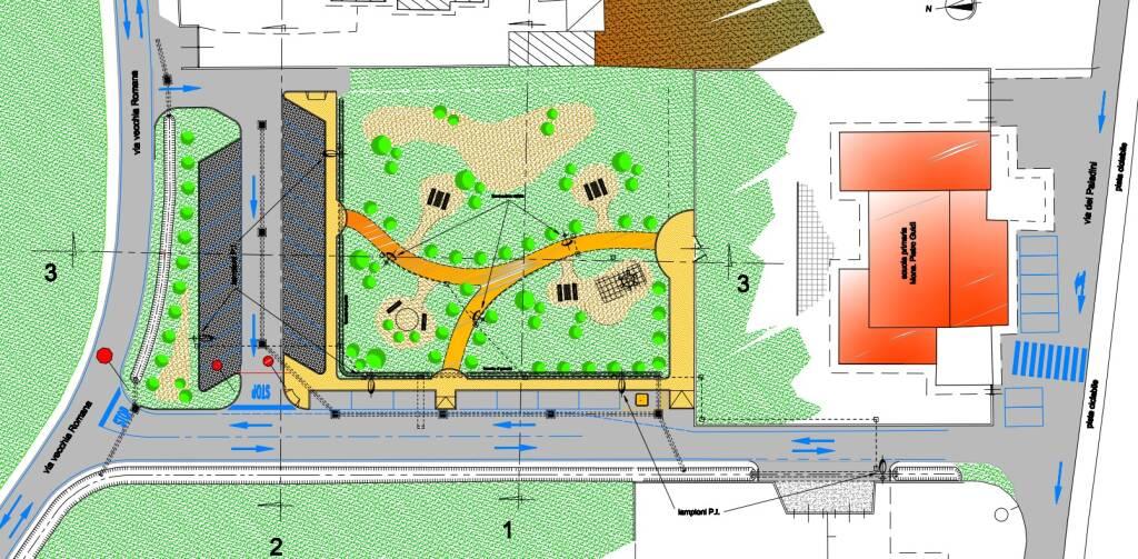 progetto parcheggio antraccoli scuola guidi