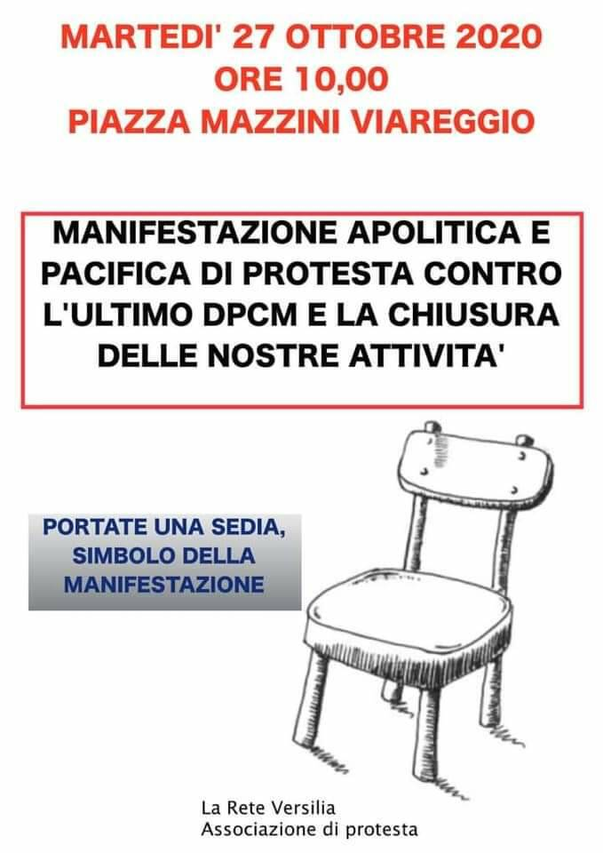Protesta a Viareggio contro il dpcm