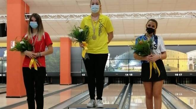 Roberta D'Elia oro tricolore Bowling Lucca Bt Astroline