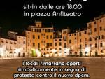sit in bar ristoranti piazza Anfiteatro chiusure decreto coronavirus