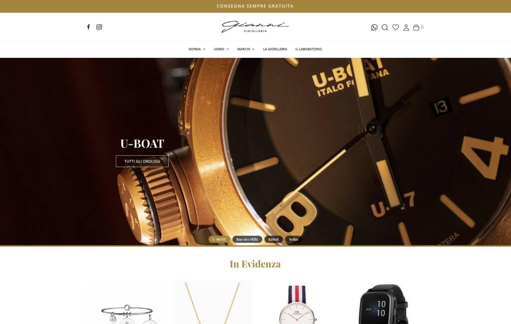 Gianni Gioielleria vendita on line sito