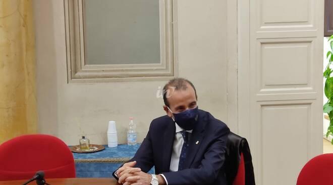 Il questore di Pisa Gaetano Bonaccorso a Pontedera con Matteo Franconi