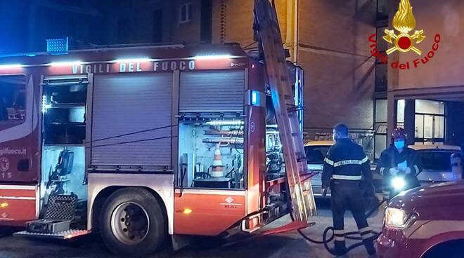 incendio appartamento a Prato