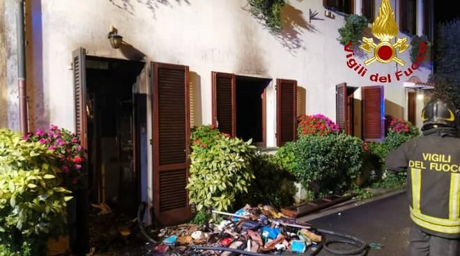 Incendio appartamento calcinaia