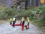 intervento soccorso alpino Isola Santa
