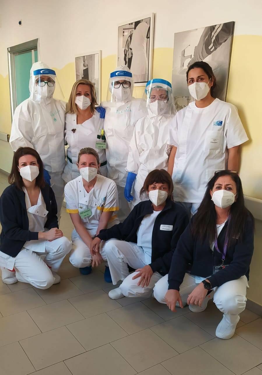 primi pazienti covid all'ospedale di Barga