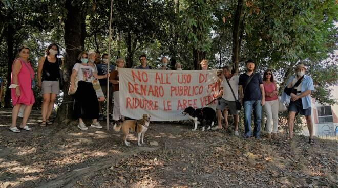 protesta parco montagnola