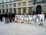 protesta piazza Napoleone chiusure decreto 14 novembre Lucca