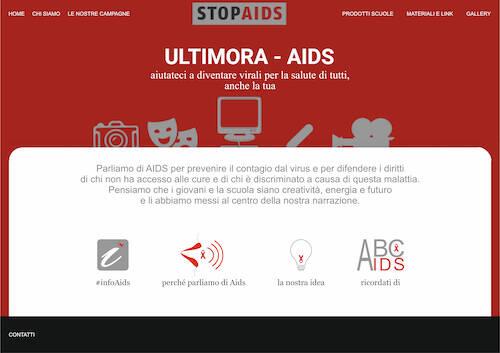 sito internet lotta all'Aids provincia di Lucca