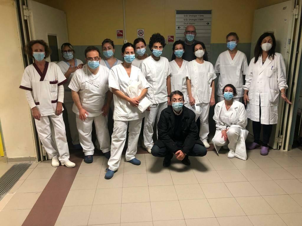 staff reparto Covid ospedale Cisanello Pisa