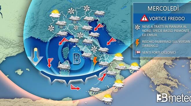 3b meteo prima settimana dicembre