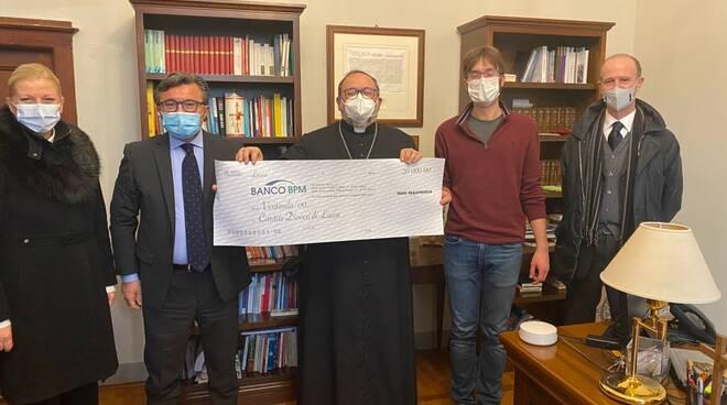Banco Bpm donazione Caritas Lucca