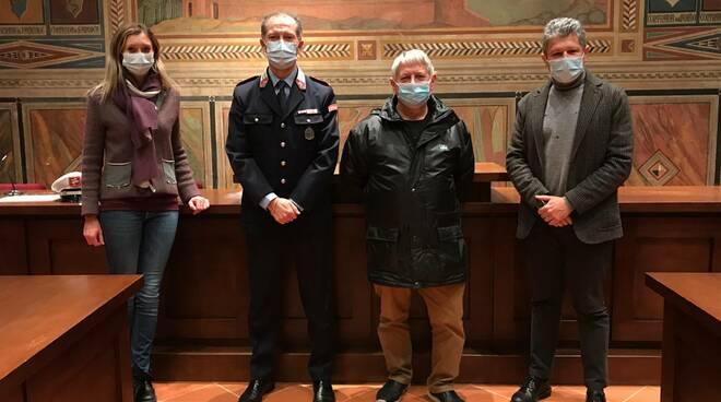 Daniele Taddei, agente di polizia municipale a San Miniato, va in pensione