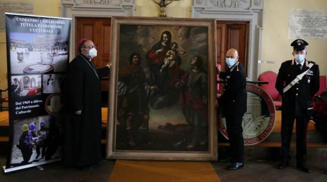 Dipinto restituito a Lucca dopo quarant'anni