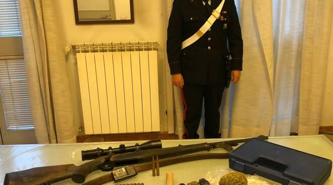 droga e armi carabinieri prato