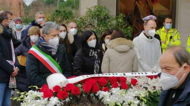 Funerale di Gianluca Bertini a San Miniato Basso, 12 dicembre 2020