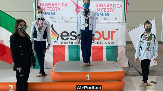 Ginnastica Motto podio Chiara Puosi Allieve Gold