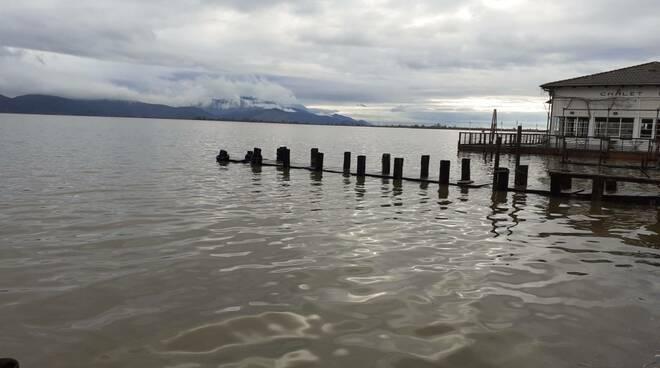 Lago di Massaciuccoli livello acqua alto