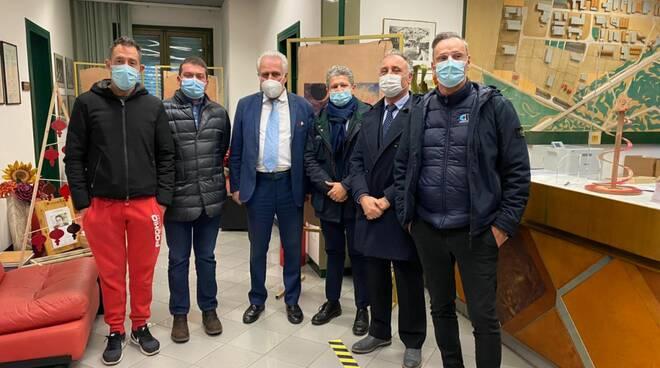 presidente della Regione Toscana Eugenio Giani al Consorzio Conciatori di Ponte a Egola