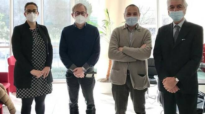 Rossano Signorini con il cda geofor Daniele Fortini, Valentina Pinori, Gianluca Gambini