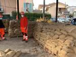 sacchini sabbia porcari protezione civile allagamento alluvione rio leccio