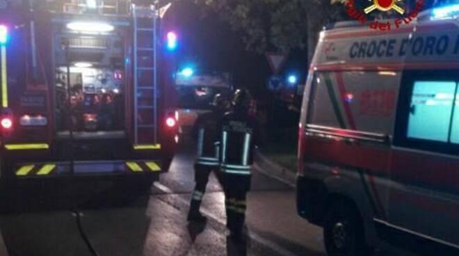 vigili del fuoco ambulanza incidente