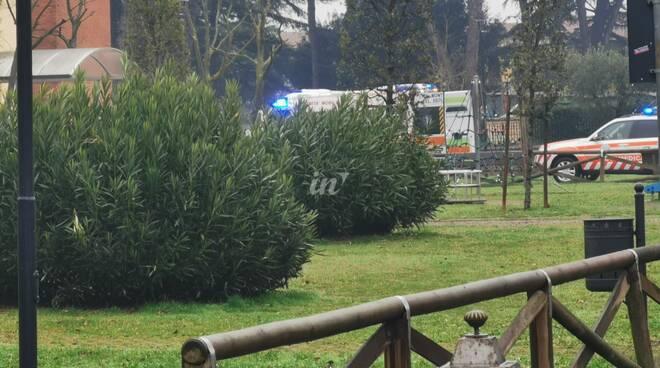 ambulanza alla scuola di capanne, 29 gennaio 2021