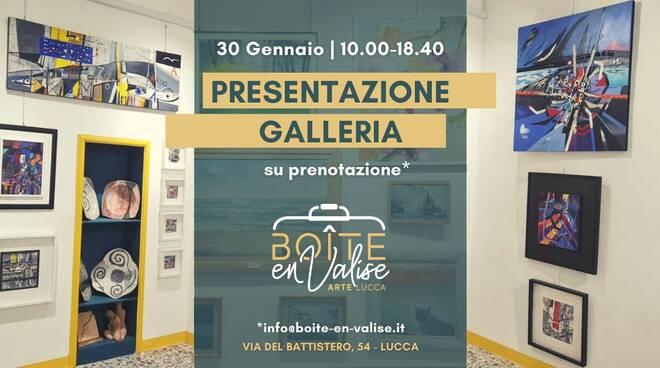 boite en valise galleria inaugurazione Lucca