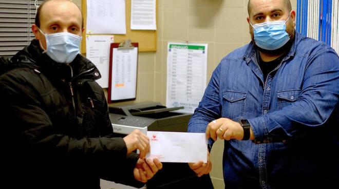 Giacomo Carrara Marco Pallini donazione Fratres Asd Montecarlo