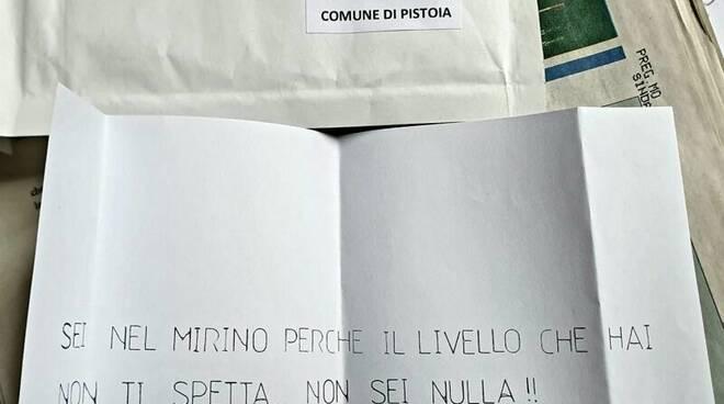 lettera anonima a sindaco di pistoia