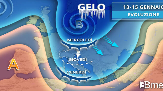 meteo previsioni 15 16 gennaio 2020 gelo