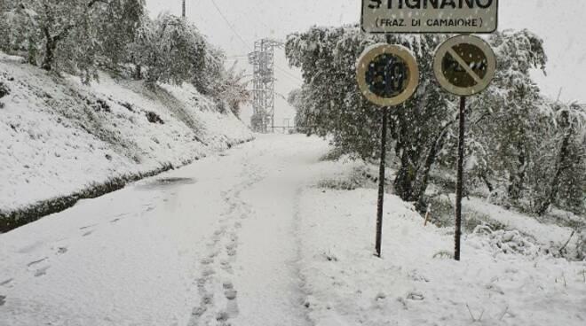 Neve alle Seimiglia Camaiore