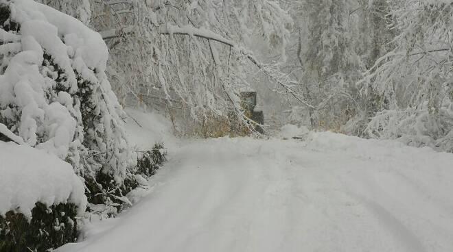 Neve e disagi in Garfagnana
