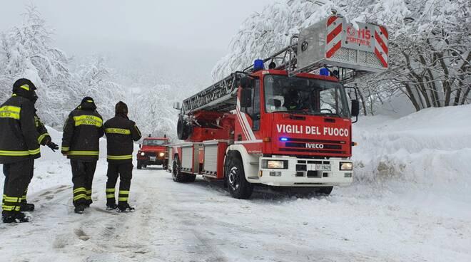 neve interventi vigili del fuoco