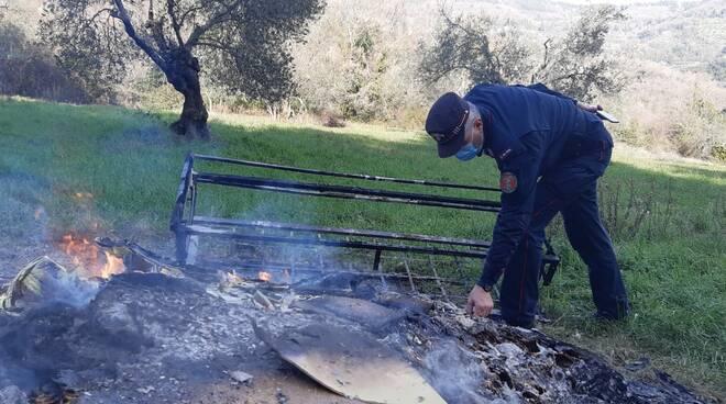 rifiuti bruciati a sesto fiorentino
