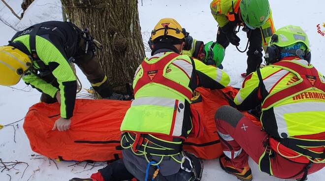 salvataggio guardiaparco vigili del fuoco 118 campocatino