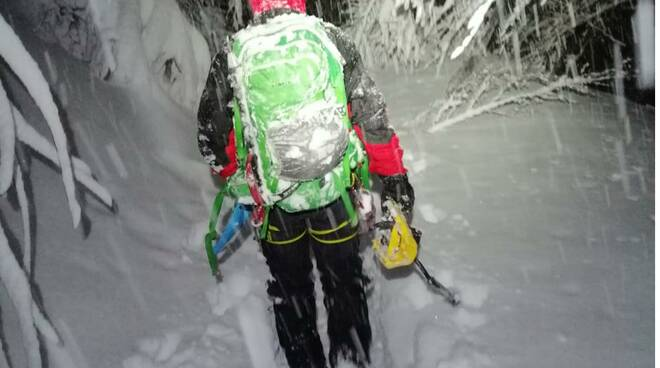 slavina Pradaccio intervento soccorso alpino