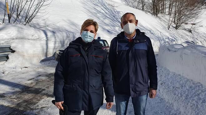 sopralluogo carabinieri forestali provincia strada provinciale radici