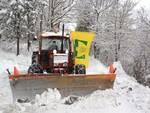 trattori Coldiretti in azione per la neve