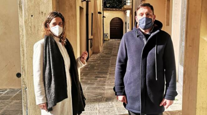 Chiara Martini e Daniele Bianucci vicolo San Carlo