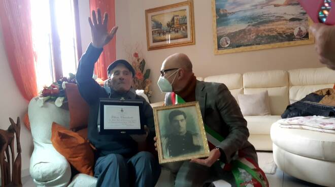 Ettore Chiuchiolo compie 100 anni il 16 febbraio 2021 a fucecchio