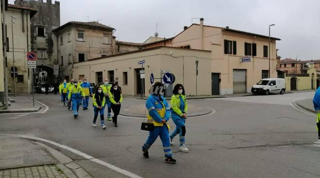 Funerale di Rigoletto Panattoni a Castelfranco di Sotto 27 febbraio 2021