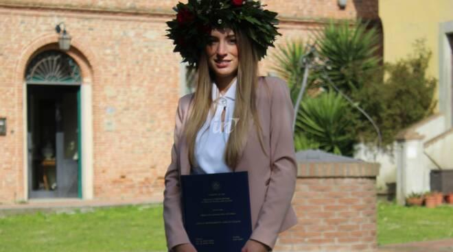 Greta Zanaboni di San Miniato laureata con lode a Pisa
